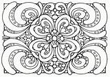Coloring Pattern Pages Floral sketch template