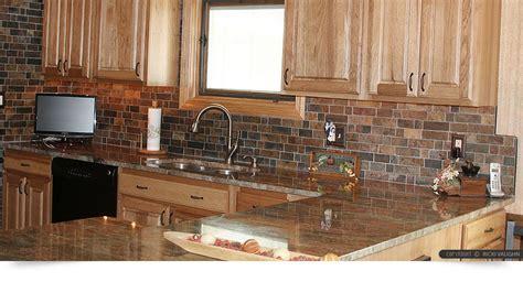 Rusty Brown Slate Mosaic Backsplash Tile For Traditional