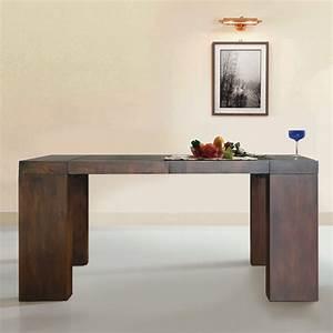 Table Console Extensible : table console extensible en bois massif moody couleur weng ~ Teatrodelosmanantiales.com Idées de Décoration