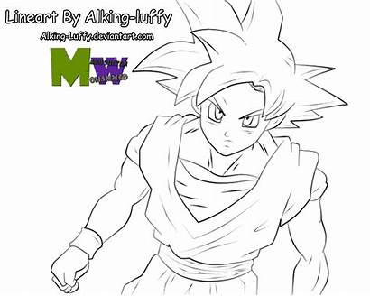 Goku Pages Ssg Coloring God Ssj Luffy