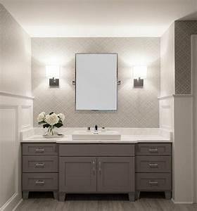 Tapete Für Badezimmer : tapete in grau stilvolle vorschl ge f r wandgestaltung ~ Watch28wear.com Haus und Dekorationen