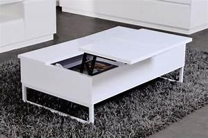Table Bar Avec Rangement : table basse blanche avec rangement table basse et pliante ~ Teatrodelosmanantiales.com Idées de Décoration
