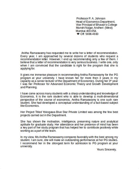 writing letters of recommendation sle reference letter teachers college 7316