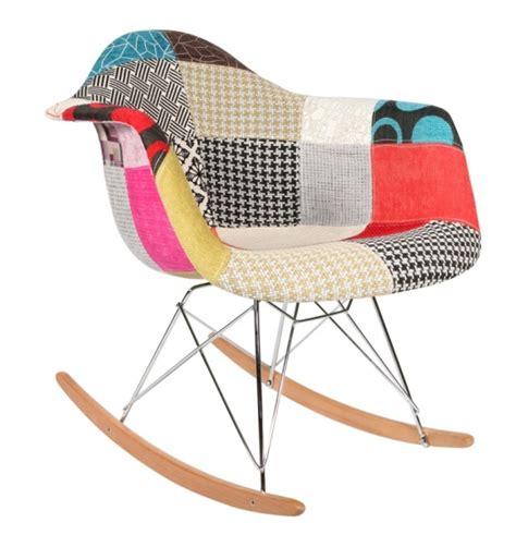 Chaise à Bascule Rar Patchwork Style Eames  Secret Design