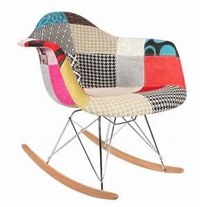 Chaise À Bascule Eames : chaise bascule rar patchwork style eames secret design ~ Mglfilm.com Idées de Décoration