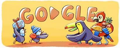 Doodle Google Christmas Holiday December Doodles Holidays