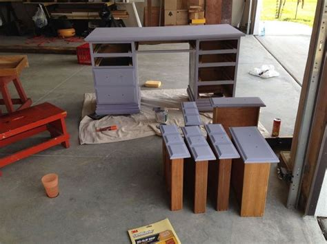 desk makeover with menards chalk paint hometalk