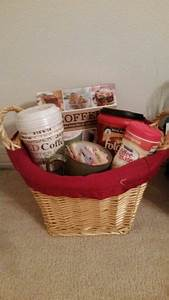 Raffle Box Ideas My Coffee Gift Basket Got The Cups From Cheap From