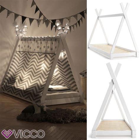 Tipi Kinderzimmer Ebay by Vicco Kinder Bett Tipi Wei 223 Kinderhaus Indianer Zelt Holz