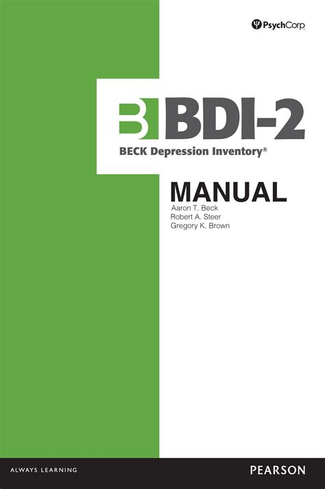 beck depression inventory ii pdf beck depression inventory 174 ii bdi 174 ii pearson assessment