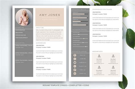 Design Resume Template Word by 15 Microsoft Word Resume Templates And Cover Letters
