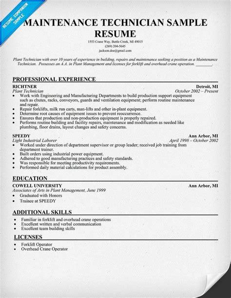 Maintenance Technician Resume Sample (resumecompanionm. Hr Resume Headline. Resume Template With Photo. Mail Matter For Sending Resume. Paraprofessional Resume Sample. Resume Hobbies And Interests. Teacher Resume Skills. Skills And Qualifications For Resume. Team Lead Job Description For Resume