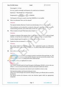 Cbse Ncert Solutions For Class 9 Science Chapter 12  Sound