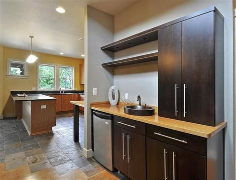 Basement Bar Sink by Bar With Maple Cabinets Vessel Sink Ideas