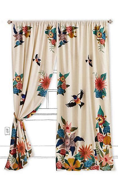 soaring starlings curtain  anthropologiecom