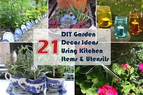 21 Diy Garden Decor Ideas Using Kitchen Items And Utensils