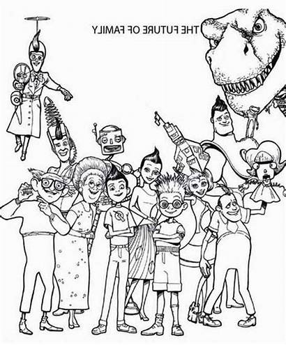 Coloring Pages Future Meeting Meet Robinsons Batch