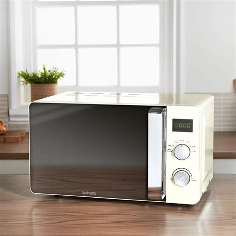 goodmans digital microwave  cream kitchen small