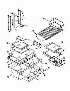 Shelf Diagram  U0026 Parts List For Model 10679202990 Kenmore