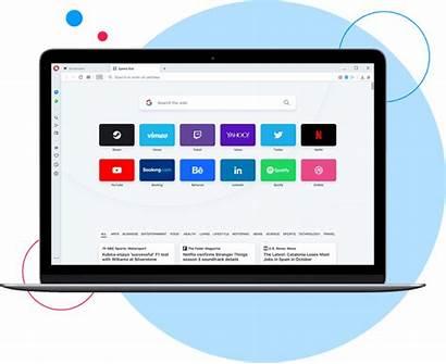 Opera Browser Di Aperte Schede Desktop Visualizzazione