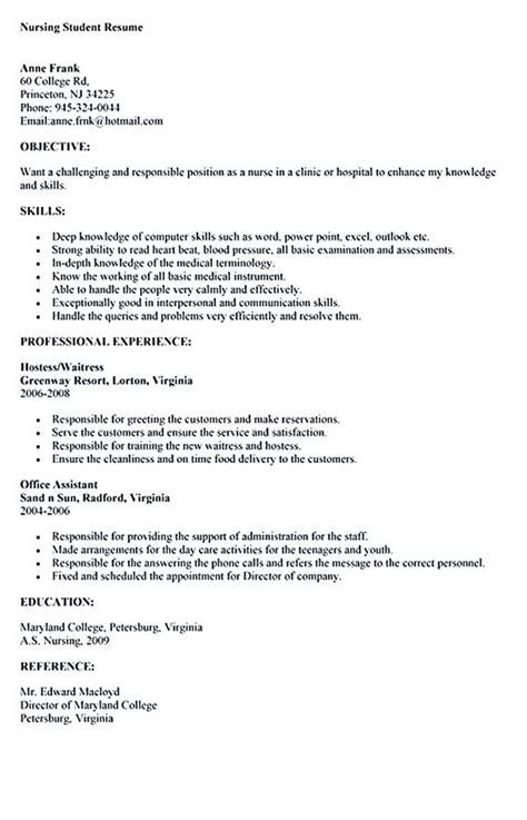 sle nursing student resume nursing student resume must