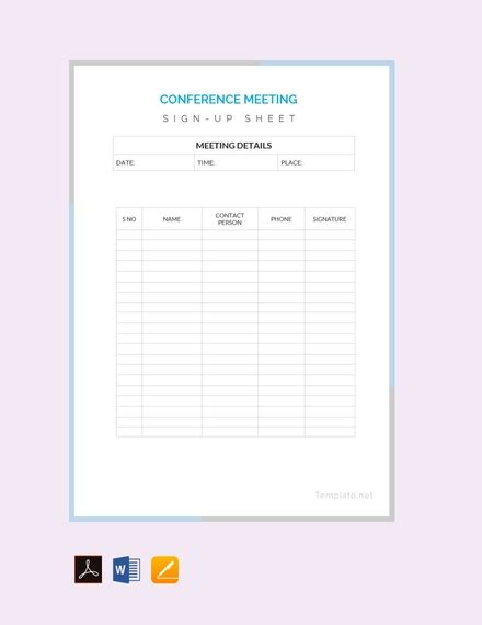 sign  sheet examples templates  word pages docs