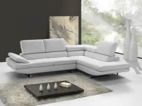 photos canap 233 d angle cuir blanc design