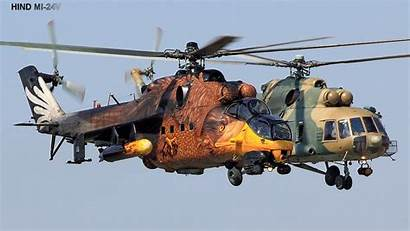 Helicopter Hind Russian Gunship Mi Military Russia