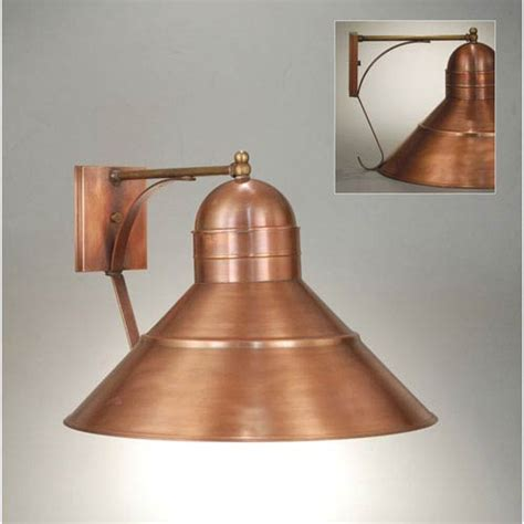 barn antique copper 18 inch one light outdoor wall sconce