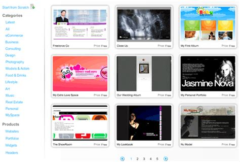 wix templates how to create a professional looking flash website for free