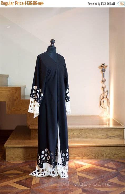 al mazyoona black embroidered party wedding bisht abaya