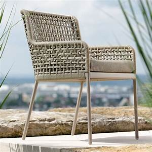 Contemporary, Powder, Coated, Aluminum, Rope, Outdoor, Dining, Chair, Luxury, 5, Star