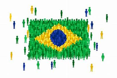 Brazil Population Cartoon Brasil Brazilian 2060 Bandera