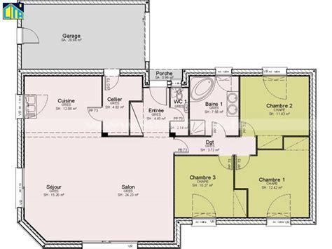 plan maison plain pied 120m2 4 chambres plan maison plain pied bretagne