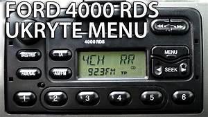 Radio Ford 4000 Rds Tryb Serwisowy I Test G U0142o U015bnik U00f3w