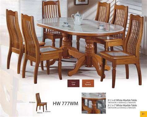 modern asian design solid wood dining table chairs with
