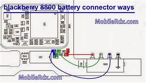 Blackberry 8800 Battery Connecter Pin Line Ways
