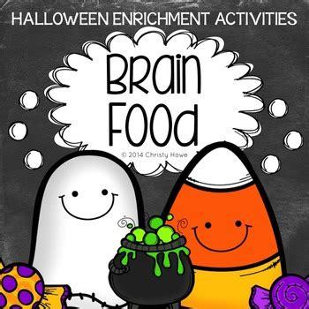 brain food halloween printable activities  creative