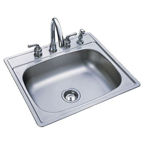25 stainless steel kitchen sink frankeusa drop in satin stainless steel 25 in 4 7308