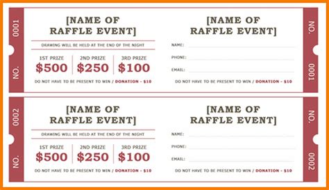 raffle ticket templates authorization letter