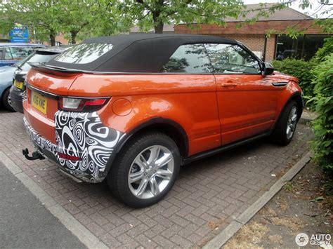 Land Rover Range Rover Evoque Convertible 12 June 2018