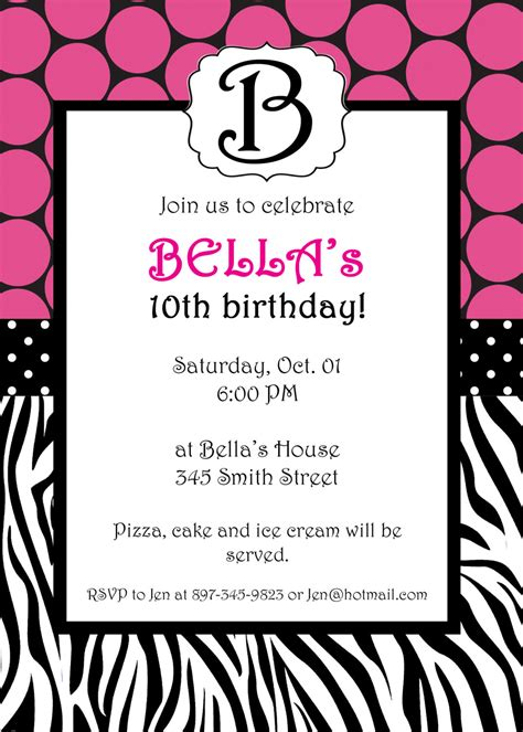 invitations to print free zebra birthday invitations template best template collection