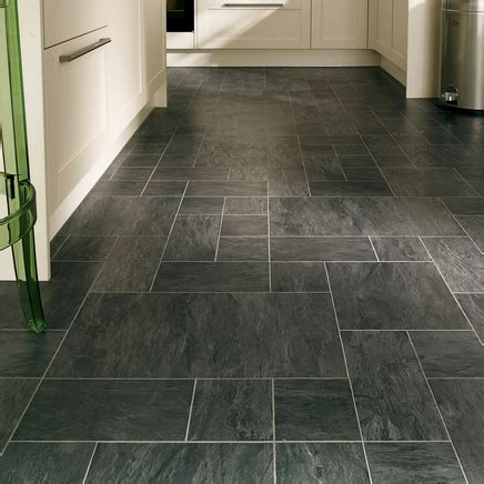 tile or laminate flooring in kitchen professional continuous black slate laminate tiles 9468