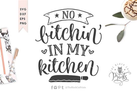 bitchin   kitchen svg cut file graphic