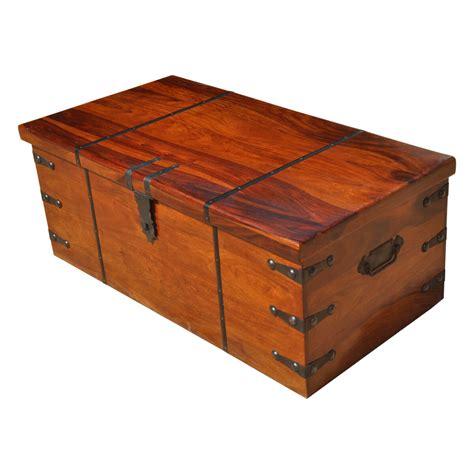Kokanee Large Solid Wood Storage Trunk Box Organizer