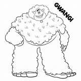 Coloring Smallfoot Pages Sheets Printable Gwangi Bigfoot Yeti Movie Print Boys Migo Meechee Scribblefun Night Fluffy Cartoon Adults Fleem Getcoloringpages sketch template
