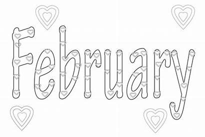 Coloring Pages February Months Month Printable December