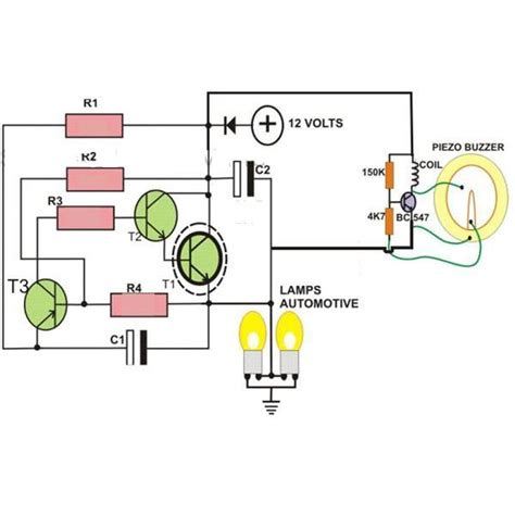 P B Wiring Diagram by 2 Pin Automobile Indicator L Flasher Circuit With