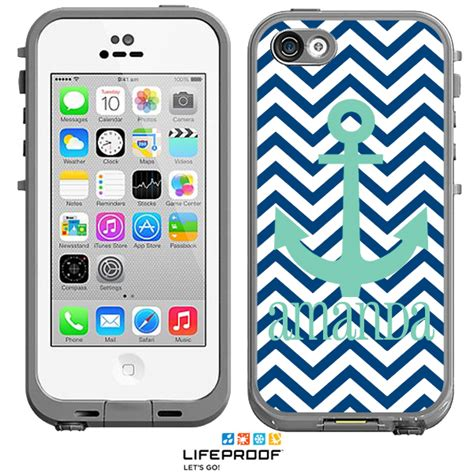 lifeproof cases for iphone 5c chevron anchor monogrammed lifeproof 174 frē iphone 5c