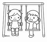 Coloring Swings Swing Pages Getcoloringpages Printable sketch template